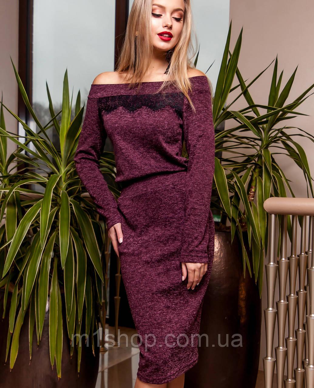 Женское платье по фигуре из ангоры (Моратти jd)