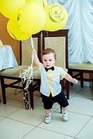 Рубашка с бабочкой на мальчика с коротким рукавом , фото 1