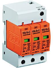 Молниеприемный разрядник и устройство защиты от перенапряжений V50-B+C 3-280 Класс I+II. OBO Bettermann
