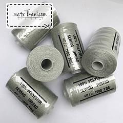 Нитки швейные 40/20 100 ярдов, светло-серого цвета  № N-1000-314