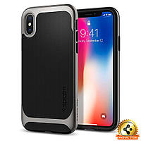 Чехол Spigen для iPhone X Neo Hybrid, Gunmetal , фото 1