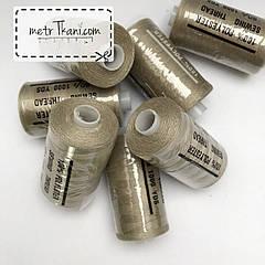 Нитки швейные 50/20 100 ярдов, темно-бежевого цвета  № N-1000-292а