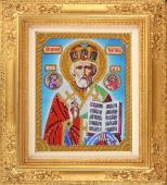 Набор для вышивания бисером икона Николай Чудотворец