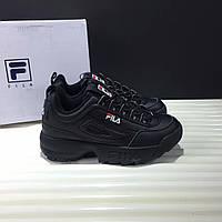 Кроссовки Fila Disruptor II Leather Black (реплика), фото 1
