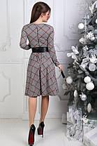Шикарное платье с принтом, в комплекте с поясом, фото 3