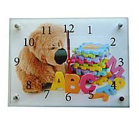 """Часы картина """"Плюшевый мишка"""" 30х40см kr1"""