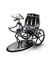 """Техно-арт """"Рикша"""" металл (15х13х8 см) - подставка для ручек и других принадлежностей"""
