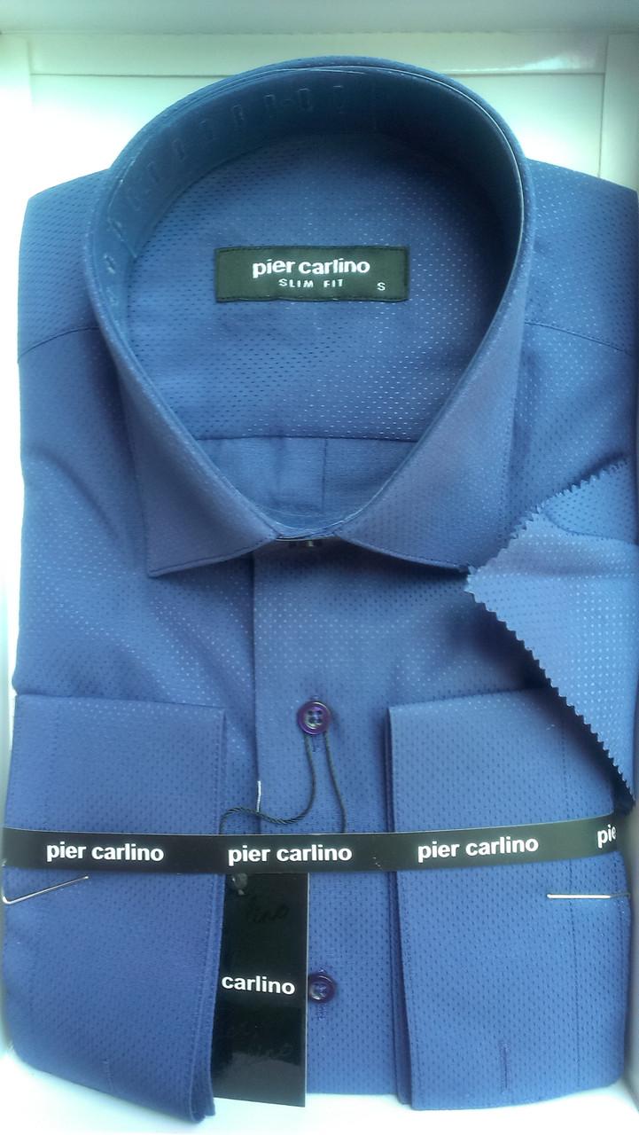 Елегантна Чоловіча сорочка з довгим рукавом Pier Carlino електрик