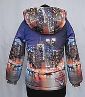 """Куртка для мальчиков с принтом """"Тачки 3"""", р 122,128"""