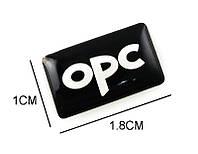 Эмблема руля и дисков Opel OPC line чёрная, фото 1