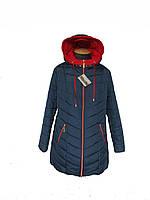 Куртка женская весенняя 56-70, отделка красная