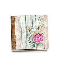 """Шкатулка-книга на магните с 9 отделениями """"Роза и бабочки"""""""