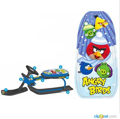 Снегокат Angry Birds MS 0899