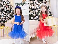 Детское платье из фатина и итальянского микродайвинга (86-116 см) 12П2255