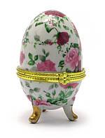 Шкатулка для украшений в форме яйца – прекрасный символичный подарок для женщины, девушки, девочки 7,5х5х5 см