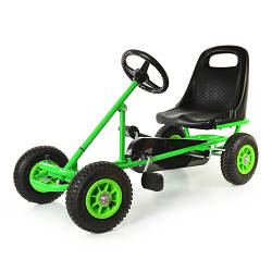 Детский веломобиль М 1503-5 надувные колеса,зеленый