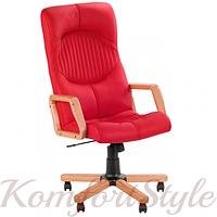 Germes extra (Гермес экстра) офисное кресло руководителя с инкрустацией деревом