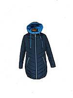 Куртка женская большого размера  56-70, отделка голубая