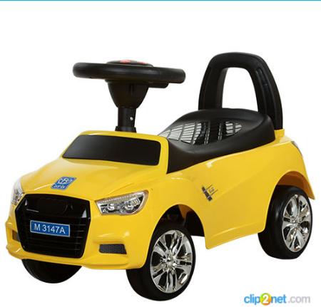 Каталка-толокар Bambi 3147A-6 Audi(ауди),желтая ***