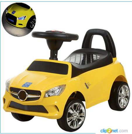 Каталка-толокар Bambi M 3147C-6 Mercedes,желтый***