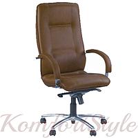 Star steel chrome comfort (Стар) офисное кресло для директора на базе комфорт