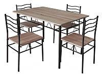 Комплект Esprit стол + 4 стула, Signal
