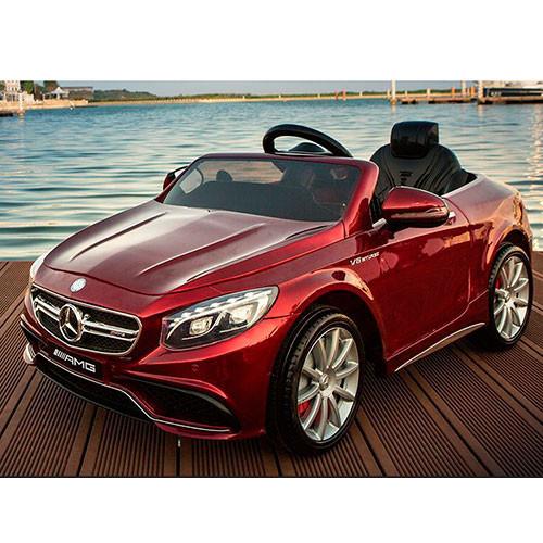 Детский электромобиль Mercedes M 2797 EBRS-3 , автопокраска бордовый**