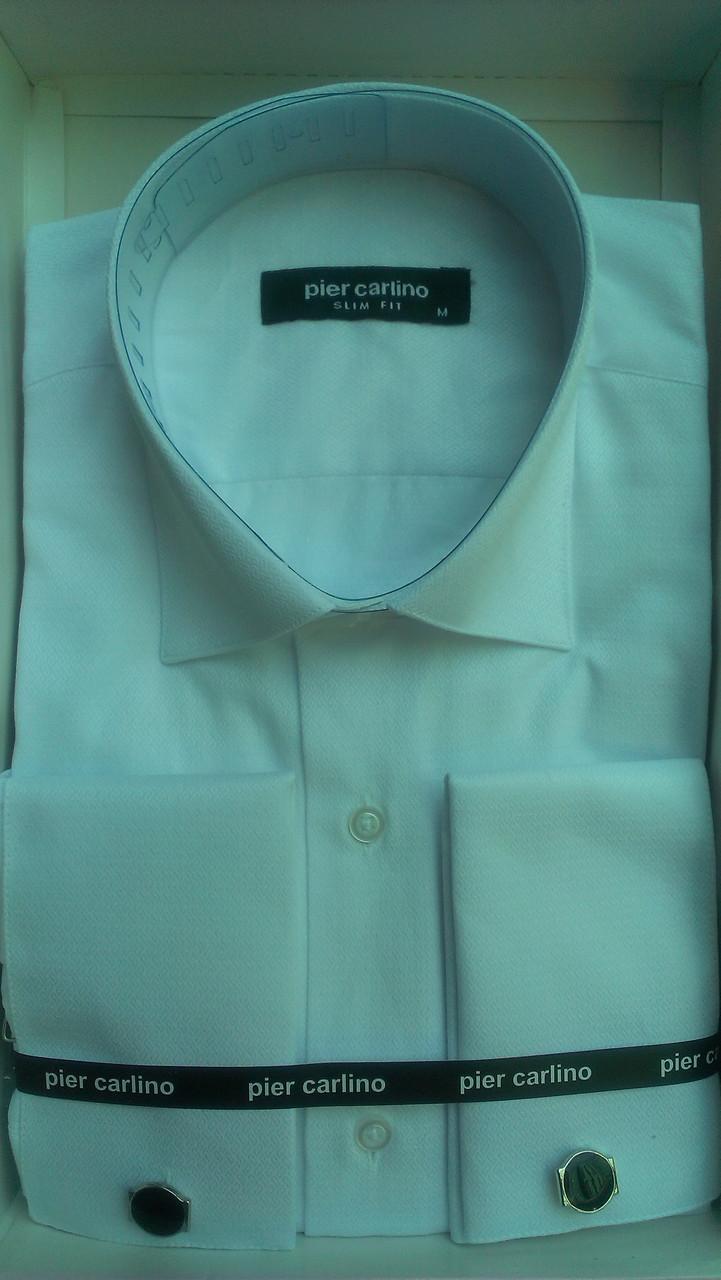 Элегантная Мужская рубашка под запонку Pier Carlino