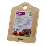 Разделочная доска Fissman 20 см (Бамбук), фото 5
