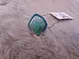 Оригинальное кольцо - природный хризопраз в серебре. Кольцо с хризопразом.18,5 размер. Индия!, фото 4