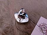 Оригинальное кольцо - природный хризопраз в серебре. Кольцо с хризопразом.18,5 размер. Индия!, фото 8