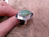 Оригинальное кольцо - природный хризопраз в серебре. Кольцо с хризопразом.18,5 размер. Индия!, фото 5