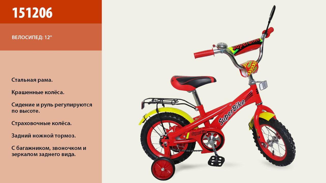Детский велосипед Super Bike 151206 12д.***
