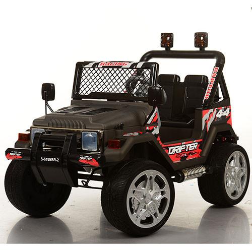 Детский электромобиль джип S-618 EBR-2, EVA колёса, чёрный***