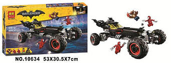 """Конструктор Bela Batman 10634 """"Бэтмобиль"""" 610 деталей."""