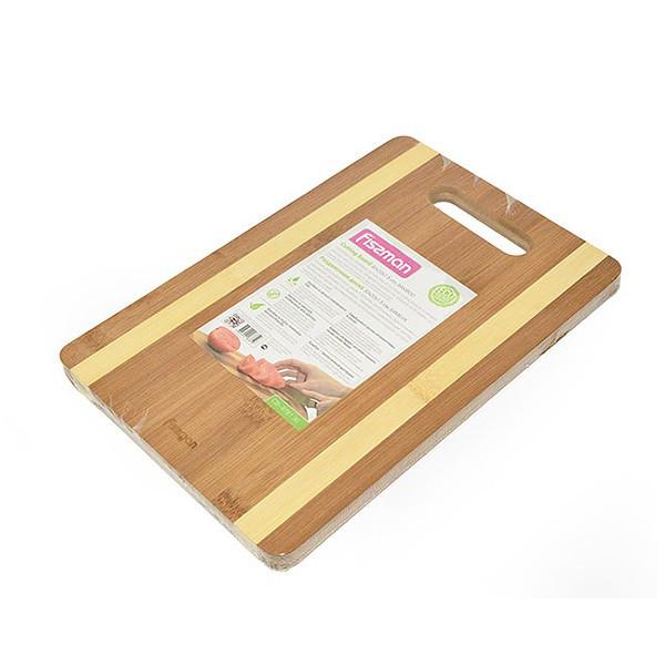Доска торговой компании Fissman 28х20х1,5 см(бамбук)