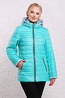 Демисезонная женская куртка из плащевой водоотталкивающей ткани.