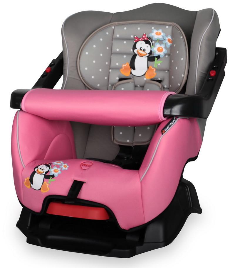 Автокресло Bertoni BUMPER Grey&Pink Penguin***