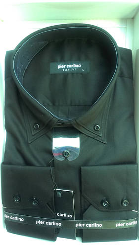 Элегантная Мужская рубашка Pier Carlino сатин