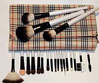 Набор  кистей для макияжа 20 штук в клетчатом чехле, фото 1