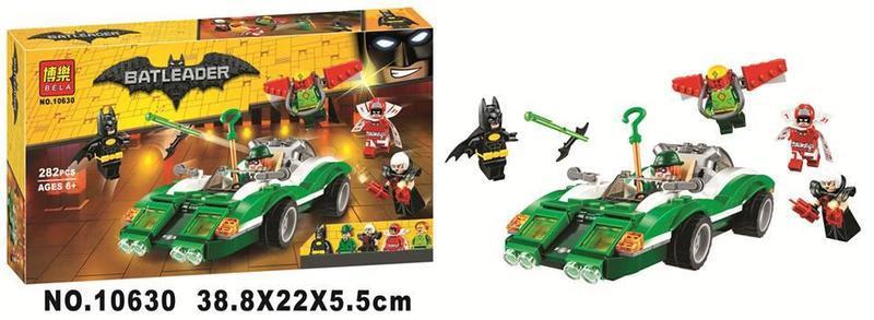 """Конструктор Bela Batman 10630 """"Гоночний автомобіль Загадочника"""" 282 деталі, аналог Lego 70903"""