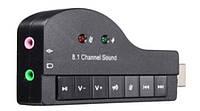 Внешняя звуковая карта USB 3D Sound 8.1