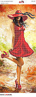 """Схема для вышивки бисером Панно """"Девушка в платье"""""""
