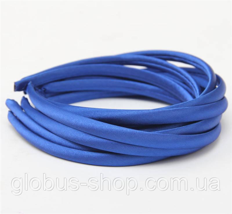 Обруч пластиковый, 1 см в атласе, цвет синий