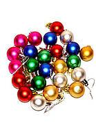 Новогодний набор шаров Малютка 24 шт 2,5 см