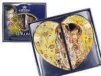 Набор стеклянных тарелок Г.Климт «Поцелуй» Carmani (2 шт.), 30,5х27 см