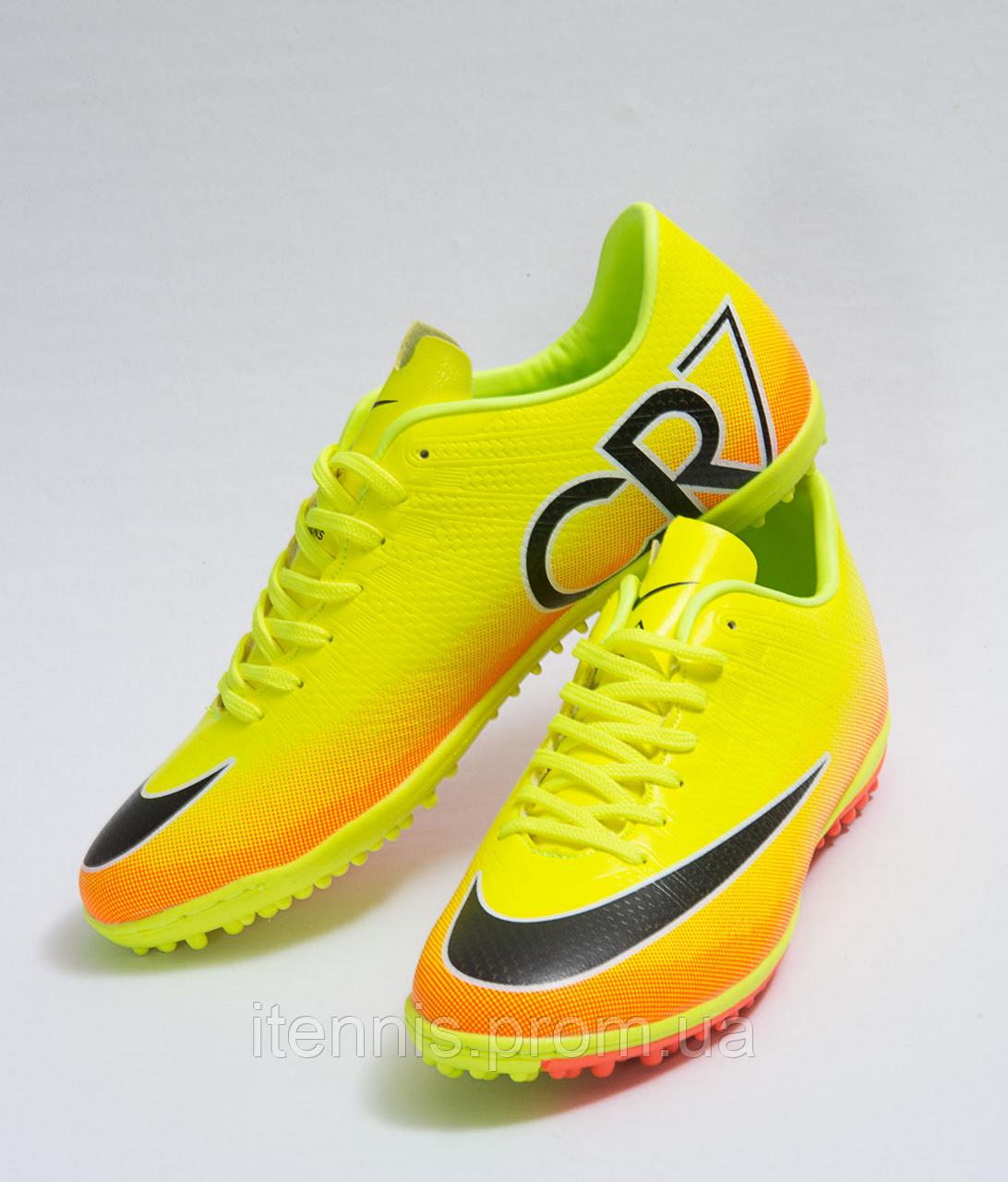 f446bcf9 Футбольные сороконожки Nike CR7 (p.40-45) Volt/Black/Citrus 40, цена ...