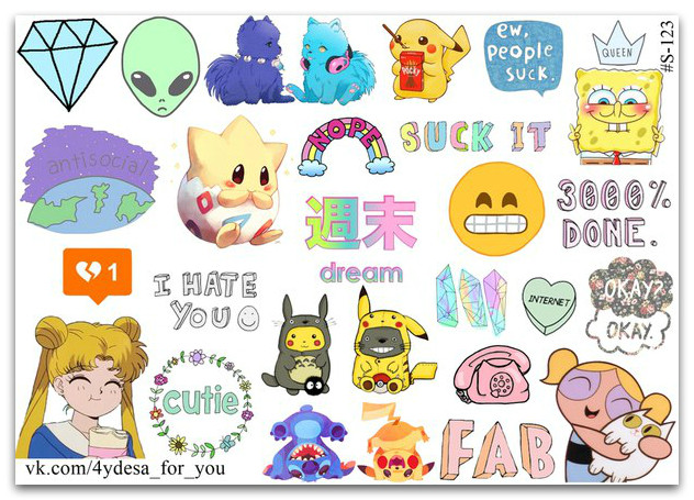 Stickers Pack #123