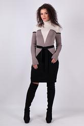 Женское платье трикотажное вязка - Корсет
