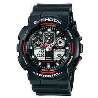 Часы CASIO G-Shock GA 100,джи шок черные с красным,часы касио 100, фото 1